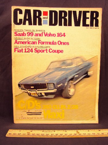 1969 69 July Car and Driver Magazine (Features: Road Test on Fiat 124 Sport Coupe, Volvo 164, & Saab 99) (Volvo Car 164)