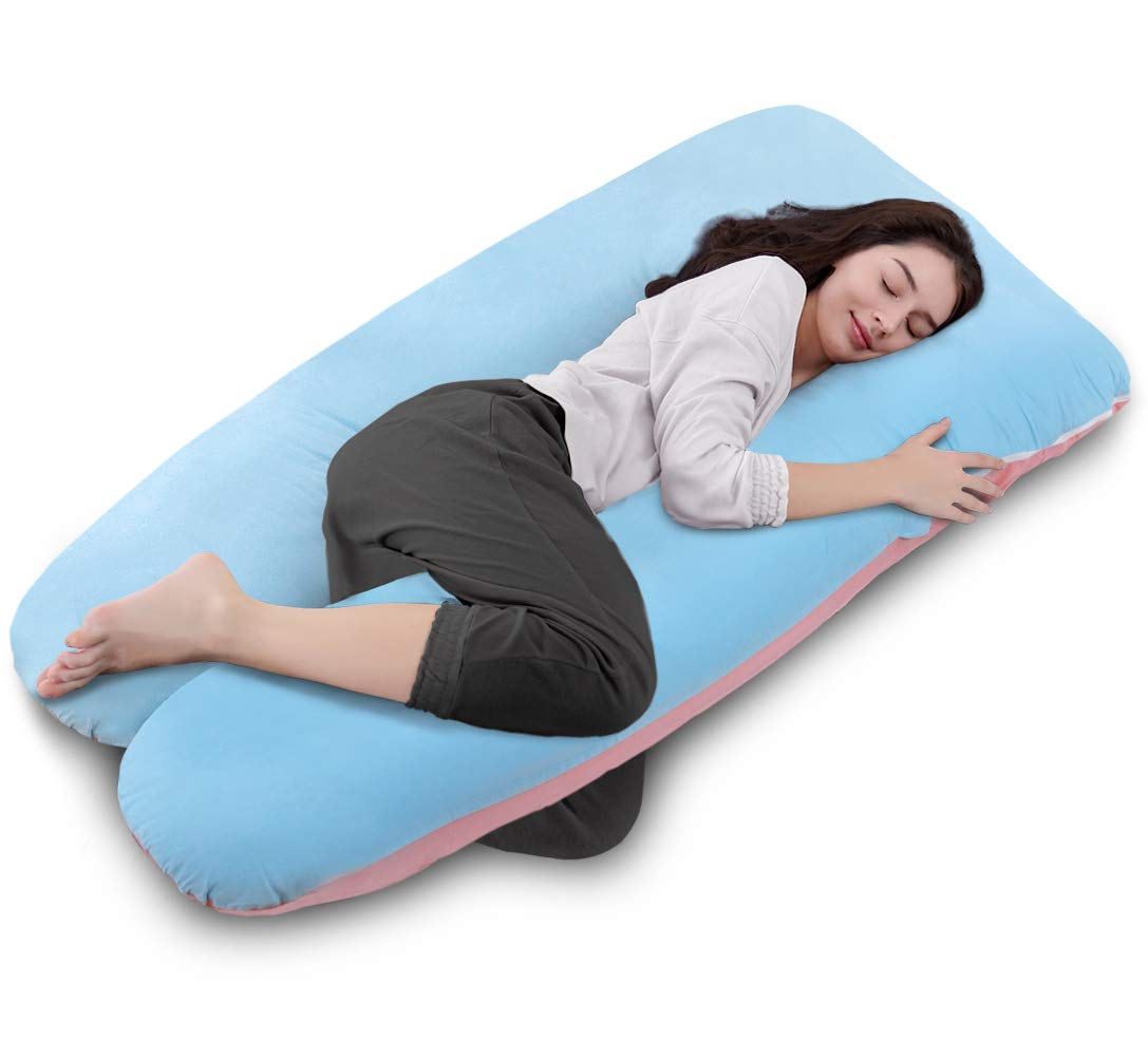 Full Body Pregnancy Pillow with Washable Cover-U Shaped By QUEEN ROSE(Unique B&P)