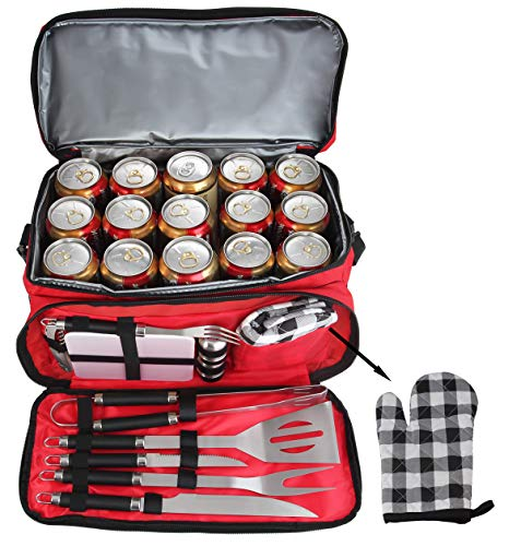 2-in1 BBQ cooler/tool set