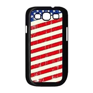 ALICASE Diy Back Case American Retro Flag For Samsung Galaxy S3 i9300 [Pattern-1]