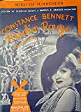 Song of Surrender [ Constance Bennett, on cover from the picture Moulin Rouge]