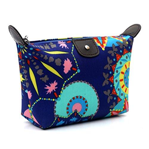 [Hatop Fashion Women Travel Make Up Cosmetic Pouch Bag Clutch Handbag Casual Purse (Blue)] (Replica Makeup)