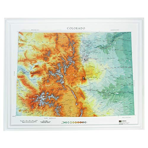 (Hubbard Scientific Raised Relief Map 950 Colorado State Map)