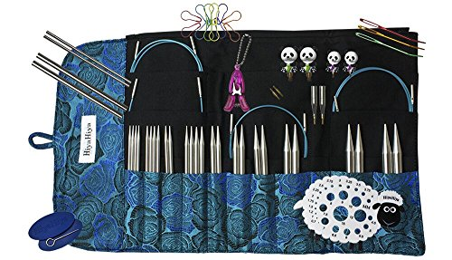 Hiya Hiya 5 Inch Sharp Limited Edition Deluxe Interchangeable Needle Set with Circular Case (Joining In The Round Knitting Circular Needles)