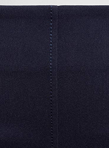 Donna 7900n Decorative Oodji Ultra Tasche Trapezio Gonna A Con Blu 5qwaA6
