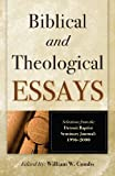 Biblical and Theological Essays, William W. Combs, 0884692639