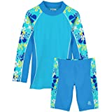 Tuga Girls Shoreline L/S & Jammer (UPF 50+), Ocean, 13/14 yrs