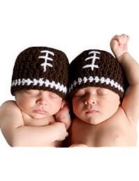 Melondipity Boys Football Crochet Baby Hat Quality Beanie newborn infant toddler