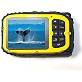 KINGEAR KG003 2.7 Inch LCD Cameras 16MP Digital Camera Underwater 10m Waterproof Camera+ 8x Zoom--Yellow