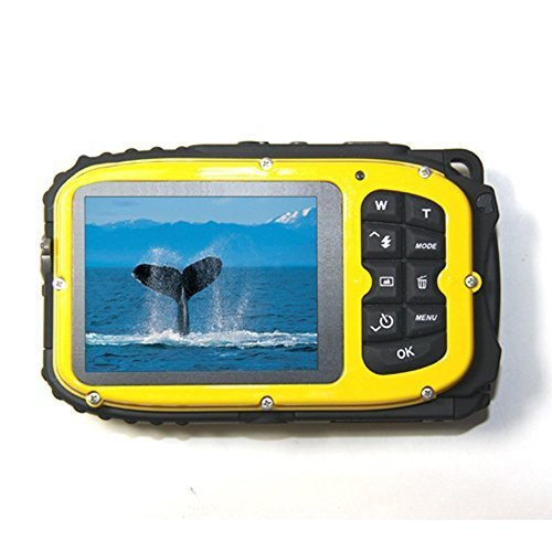 KINGEAR Cameras Underwater Waterproof Zoom Yellow