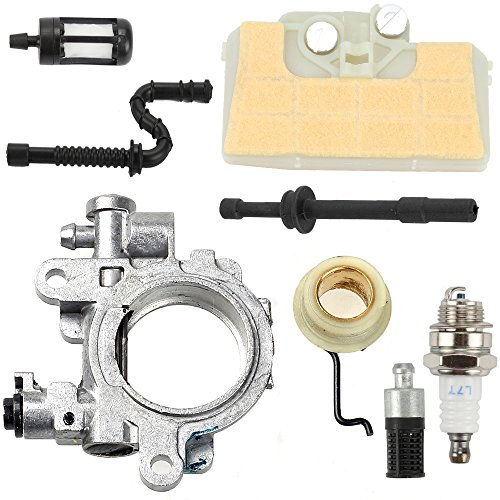 Milttor Oil Pump with Worm Gear 1127 640 3200 Air Filter Fuel Line Filter Oil Line Filter Spark Plug Fit Stihl 029 039 MS290 MS310 MS390 Chainsaw by Milttor