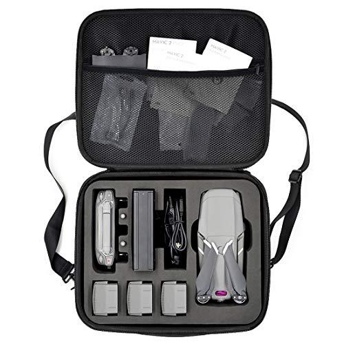 HAOUNドローン用収納ボックス DJI MAVIC 2 PRO/MAVIC 2 ZOOM対応 シングルショルダーバッグ ドローン/バッテリー/リモコン収納袋 厚手 EVA キャリングケース 保護