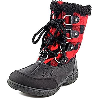 London Fog Uxbridge Women US 7 Black Snow Boot