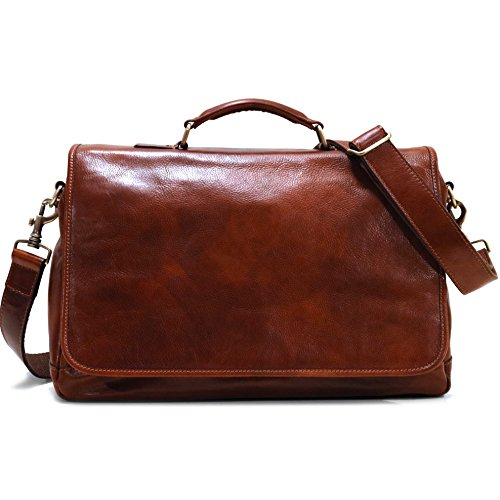 - Floto Italian Leather Messenger Bag Briefcase Centro in Vecchio Brown