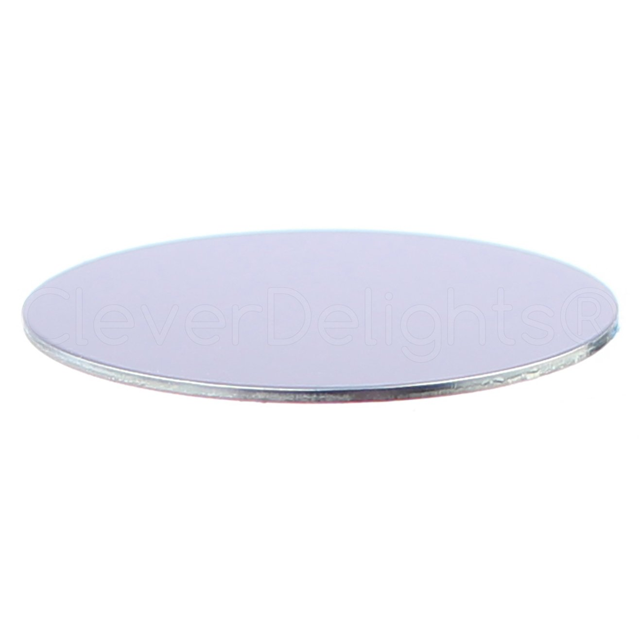 100 Pack - CleverDelights 1.5'' Round Aluminum Stamping Blanks - Shiny Anodized Finish - 18 Gauge (.039'')