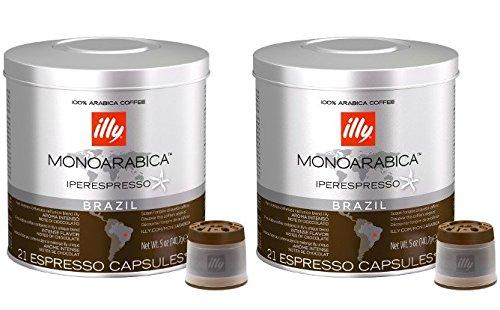 2 opinioni per Illy Caffè Iperespresso Brasile- Set 2 barattoli da 21 capsule