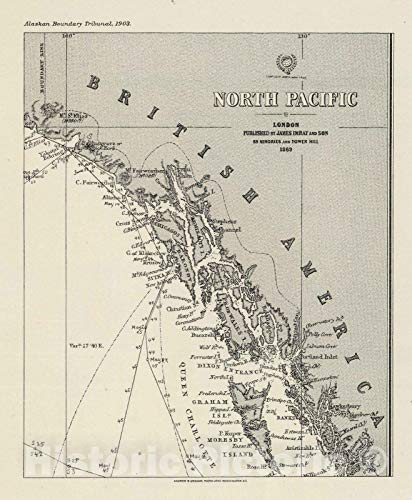 Historic Map | 1869 Imray's North Pacific (portion). | Vintage Wall Art | 24in x 30in