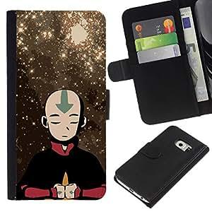 All Phone Most Case / Oferta Especial Cáscara Funda de cuero Monedero Cubierta de proteccion Caso / Wallet Case for Samsung Galaxy S6 EDGE // Airbending