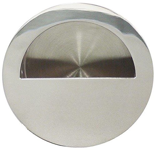 INOX FHIX02-32 Concealed Fixing Round Pocket/Cup Pull with Semi-Circular Opening, Polished Stainless Steel