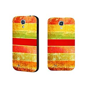 Colorful Stripes Designer Phone Case Simple Wood Grain Pattern Series Samsung Galaxy S4 9500 Case Cover