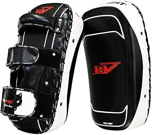 B7 Schlagpolster Arm Schield professionelle hochwertige premium Qualität aus echtem Leder Handpratzen Schlagpratzen Pratzen Schlagkissen Boxpads Training Sparring Muay Thai MMA Kickbox Freefight Kampfsport BJJ FOX-FIGHT
