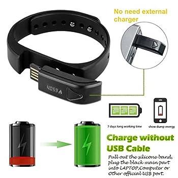 007plus T5 Smart Bracelet Bluetooth Fitness Tracker (Pink) 5