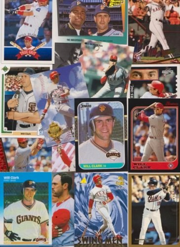 (Will Clark / 100 Different Baseball Cards featuring Will Clark )