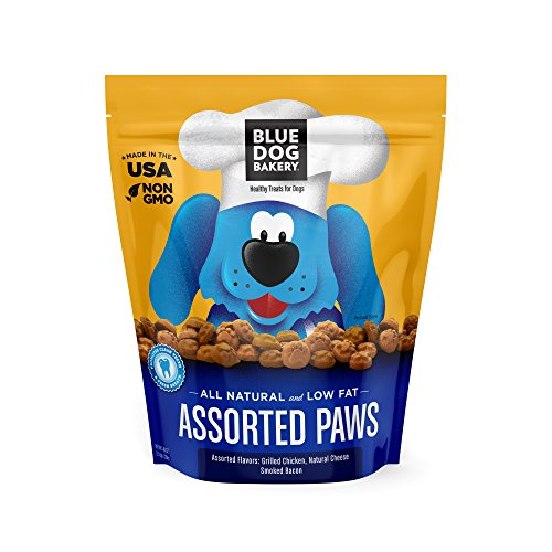 Blue Dog Bakery Dog Treats | All-Natural | Low-Fat | Assorted Paws | 2.5 lb. (Pack of 1)
