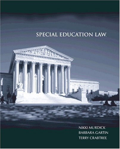 Special Education Law by Murdick Nikki L. Gartin Barbara C. Crabtree Terry Lee (2001-05-01) Paperback
