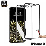 iPhone X Screen Protector,3D Touch Full Coverage Titanium Metal Edge More Fashion TEIROO [ Tempered Glass x 2 ] [ Edge to Edge Protection ] Compatible iPhone X (2018)