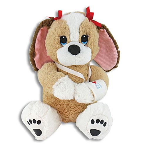 Melancholy Melanie, Adorable 10 Inch Get Well Plush Dog - Hospital Present for Girl or Woman - Cheer Up Feel Better Stuffed Puppy