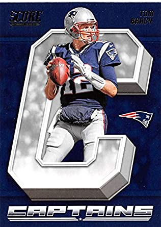 Amazon.com  2018 Score Captains  18 Tom Brady New England Patriots ... fa296e4e4