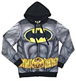DC Comics Batman Zip Front Costume Hoodie Mens (Small)