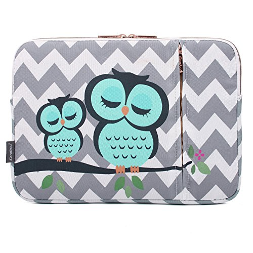 CoolBELL 15.6 Inch Laptop Sleeve Case Bag With Front Accesso