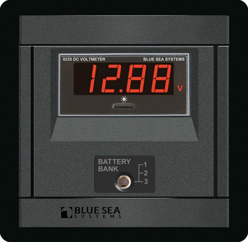 Blue Sea Systems DC Digital Voltmeter Panel 1474
