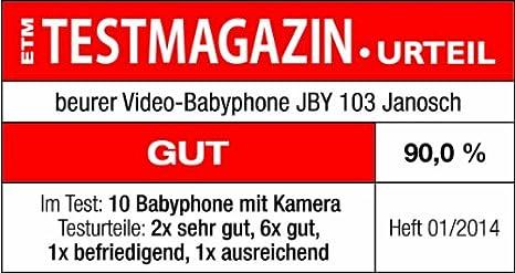 Beurer JBY 103 Video Babyphone Janosch, weiß gelb