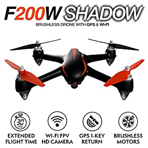 Force1 Drone with Camera Live Video and GPS Return Home Brushless Motors HD Drone 1080p Camera FPV MJX B2W Bugs 2 Quadcopter from Force1