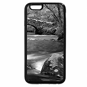 iPhone 6S Case, iPhone 6 Case (Black & White) - Forest river