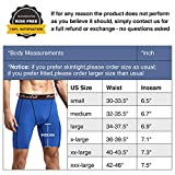 Runhit Men's Compression Shorts with Pockets