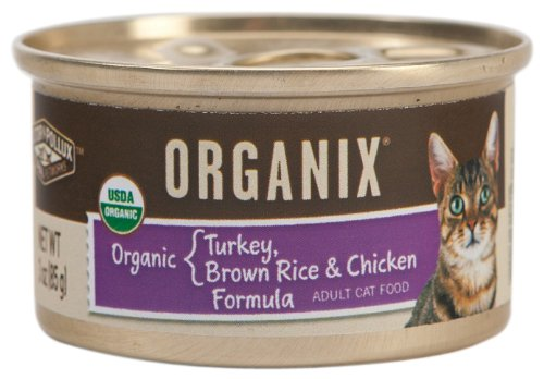 Castor and Pollux Organix Feline Formula, Turkey, Brown Rice and Chicken, 3-Ounce Cans (Pack of 24), My Pet Supplies