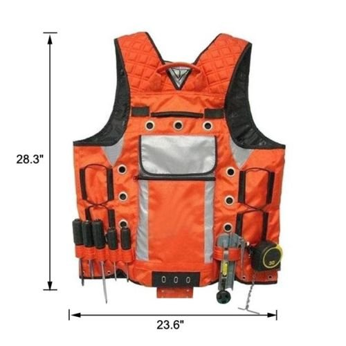 Edxtech Tool Vest Storage Compartments Electrician Carpenter Plumber Construction Pouch by Unknown