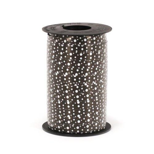 (Berwick 3800826 Reverse Dots Curling Ribbon, 3/8-Inch Wide by 250-Yard Spool, Black)