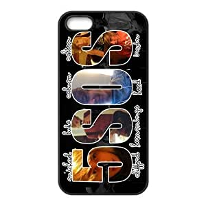 Band 5SOS With Signatures Fashion Custom Design Apple Iphone 5 5s Hard Case Cover phone Cases Covers Kimberly Kurzendoerfer