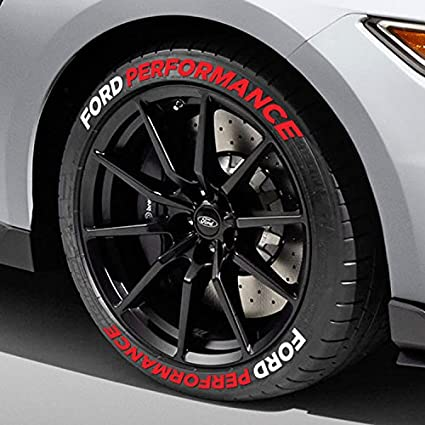 tire stickers ford performance tire lettering mustang accessory diy decals easy