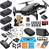 DJI Mavic Air Fly More Combo Onyx Black With 3 Batteries 4K Camera Gimbal Bundle Kit with Must Have Accessories