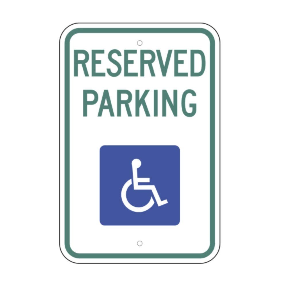 """Handicap Reserved Parking Van Accessible 8/"""" x 12/"""" Aluminum Sign Made in USA"""