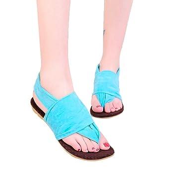 feiXIANG 🍄🍄Schuhe Damen 🌴 frauen flach Zehentrenner sandalen Einfarbig  Beach Flip-Flop schuhe 2ec7cede07