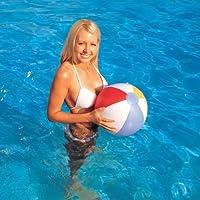 Gifts4Home Bestway Ballon de plage/piscine/vacances gonflable Motif bandes 40 cm