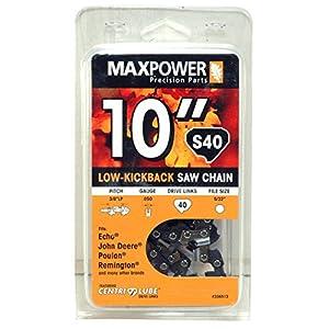 "Maxpower 10"" Chainsaw Chain Loop for Echo, John Deere, Poulan, Remington (S40)"