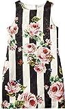 Dolce & Gabbana Kids Girl's Sleeveless Dress (Big Kids) Stripe Rose 12